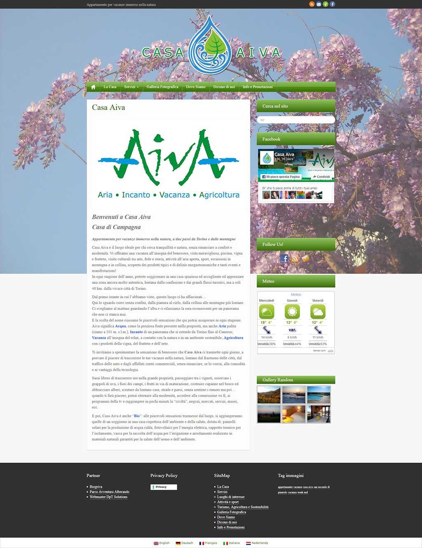 Casa Aiva Sito web Multilingua
