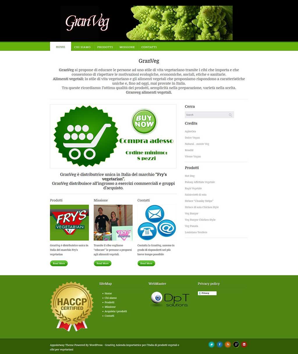 GranVeg sito web ecommerce