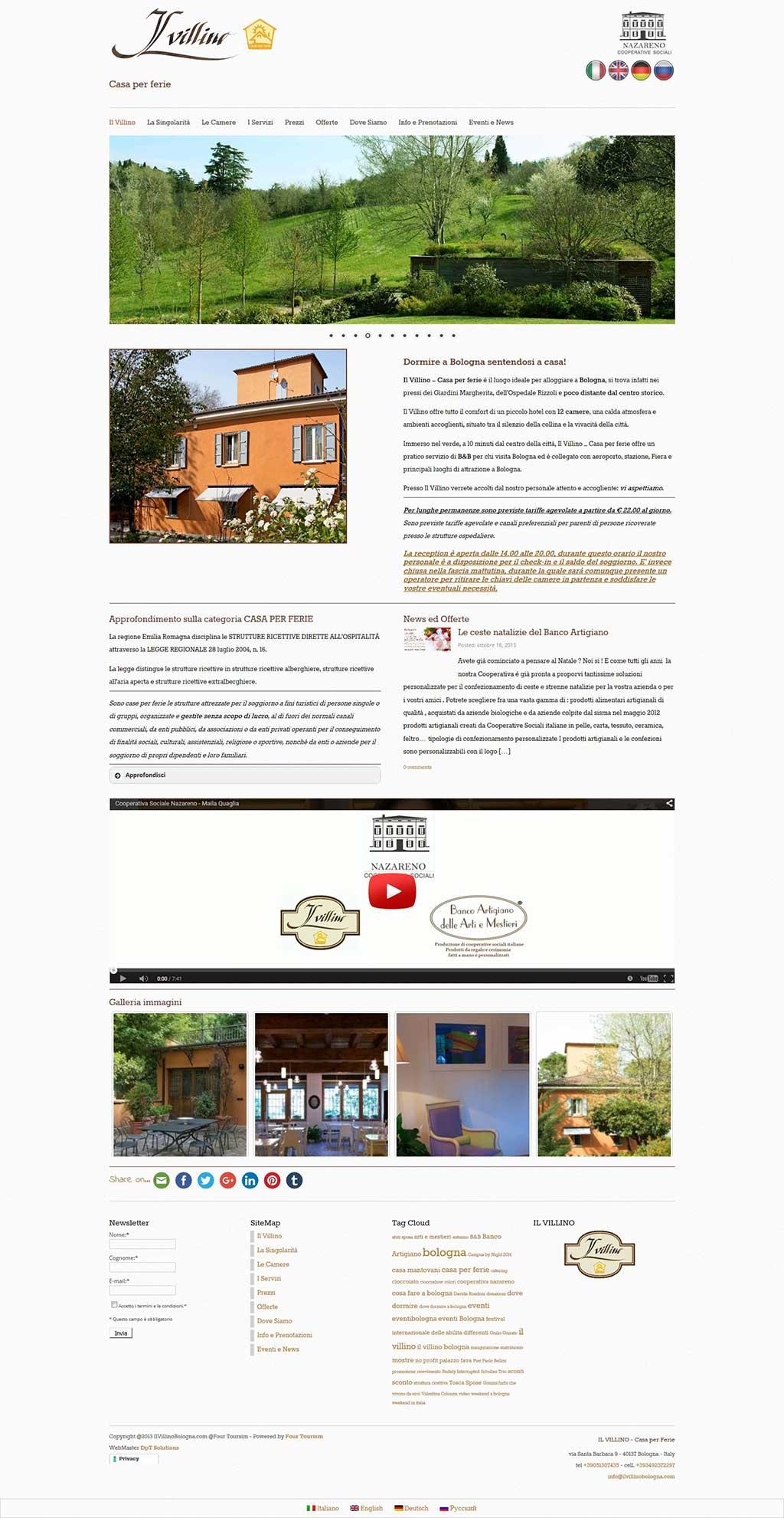 Il Villino Bologna sito web casa per ferie