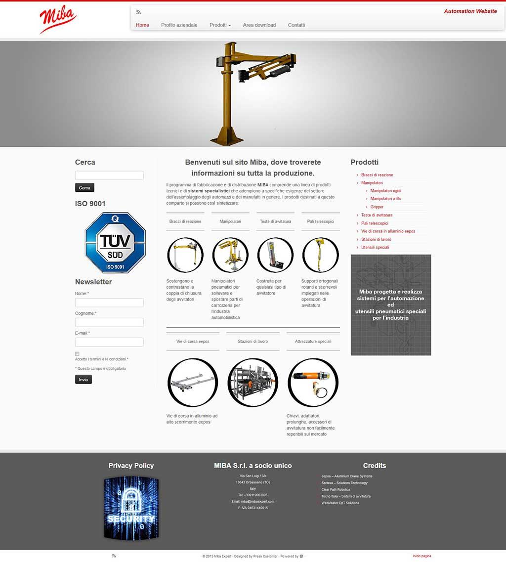 Miba Expert sito web