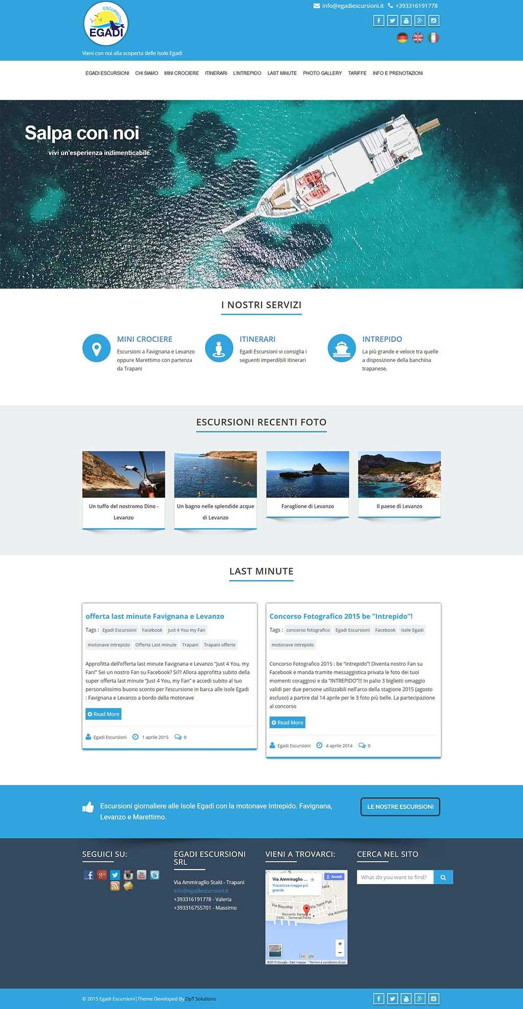 Egadi Escursioni sito web turistico