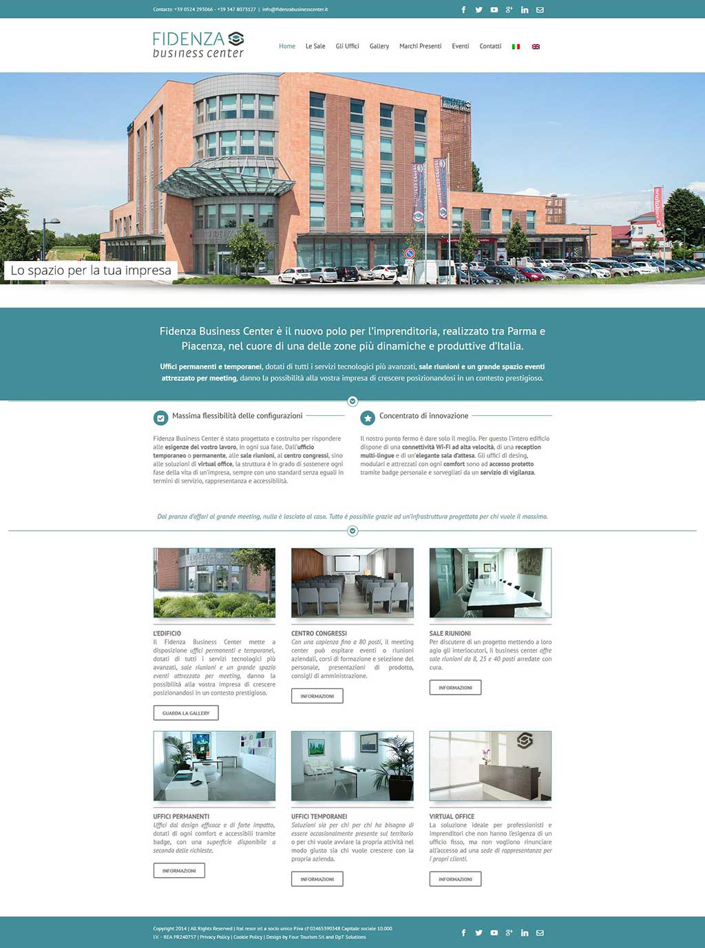 Fidenza Business Center website centro congressi