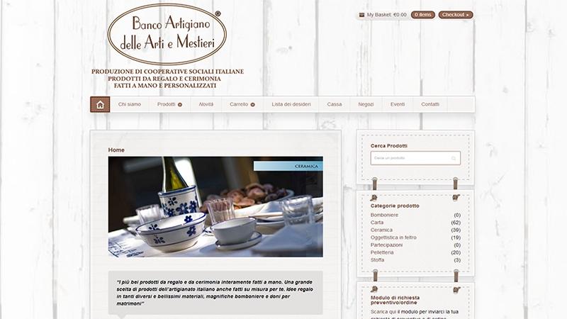 Banco Artigiano sito e-commerce