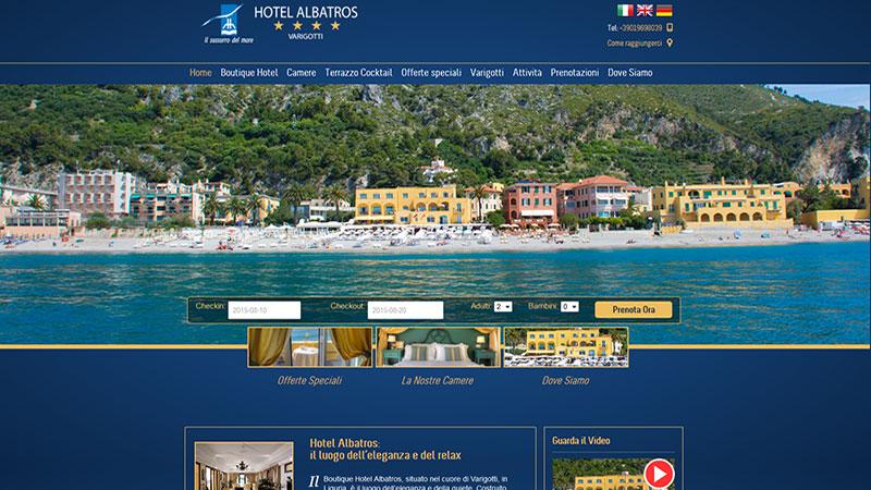 Restyling sito Hotel Albatros Varigotti