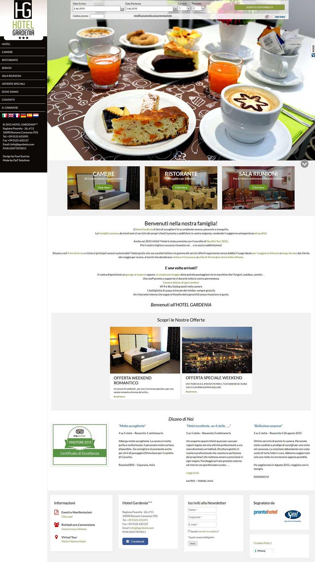 Hotel Gardenia Sito Web Multilingua