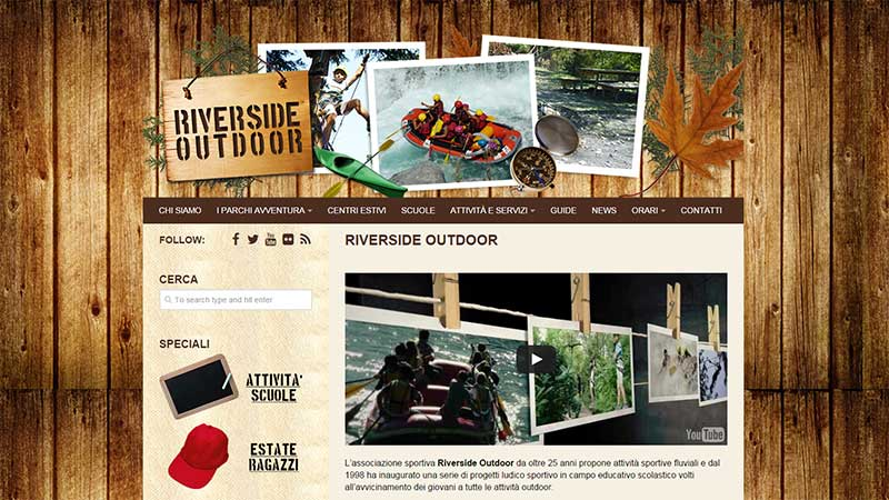 Riverside Outdoor sito web
