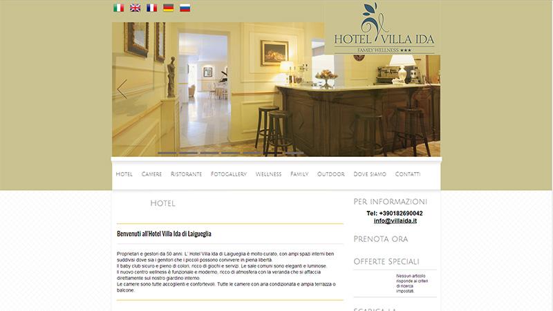 Villa Ida sito multilingua per hotel