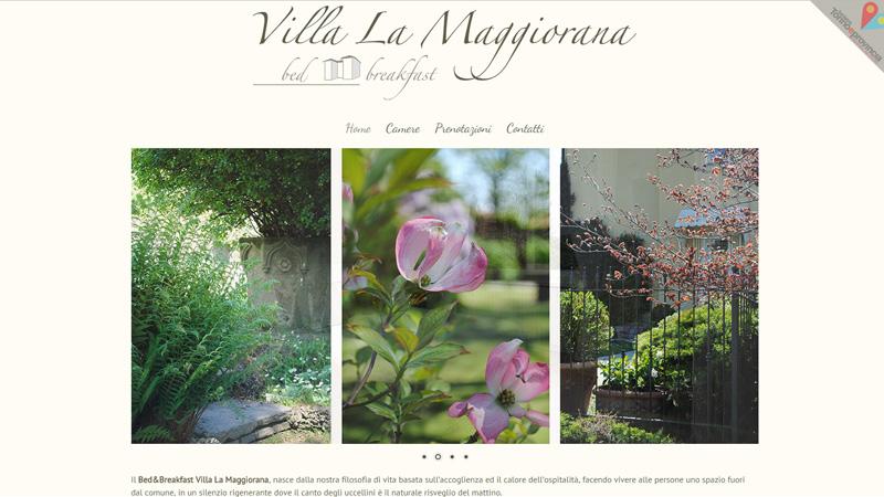 Villa La Maggiorana sito web b&b