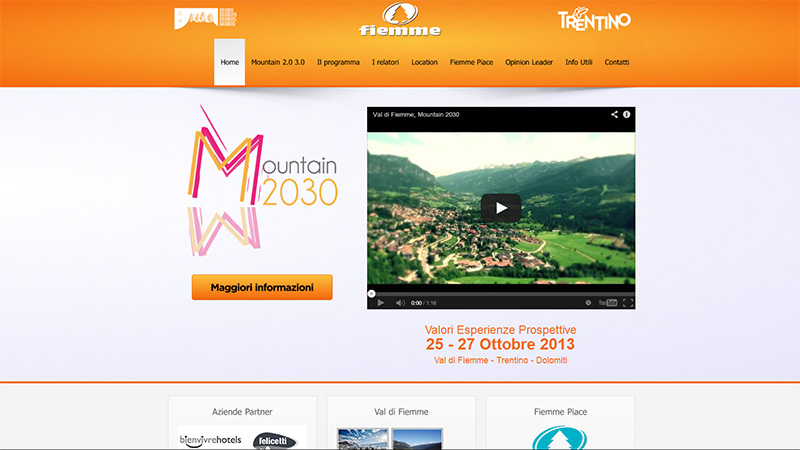 Mountain 2030 sito web