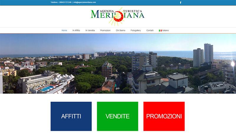 Restyling sito Agenzia Meridiana