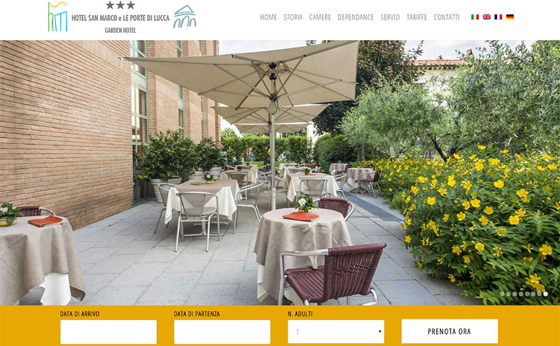 Restyling sito Hotel San Marco Lucca