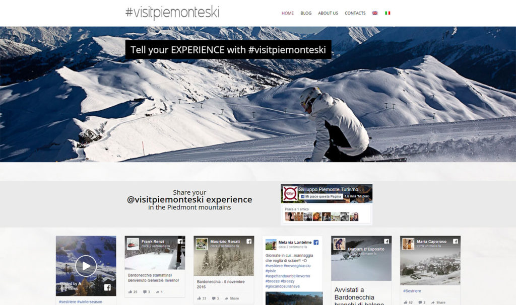 VisitPiemonteSki Blog-Social Wall