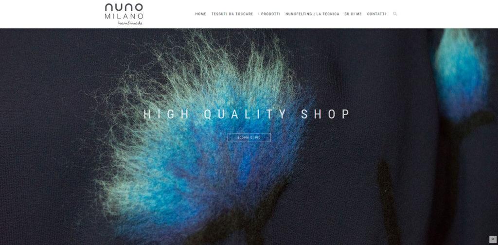 Realizzazione sito Nuno Milano