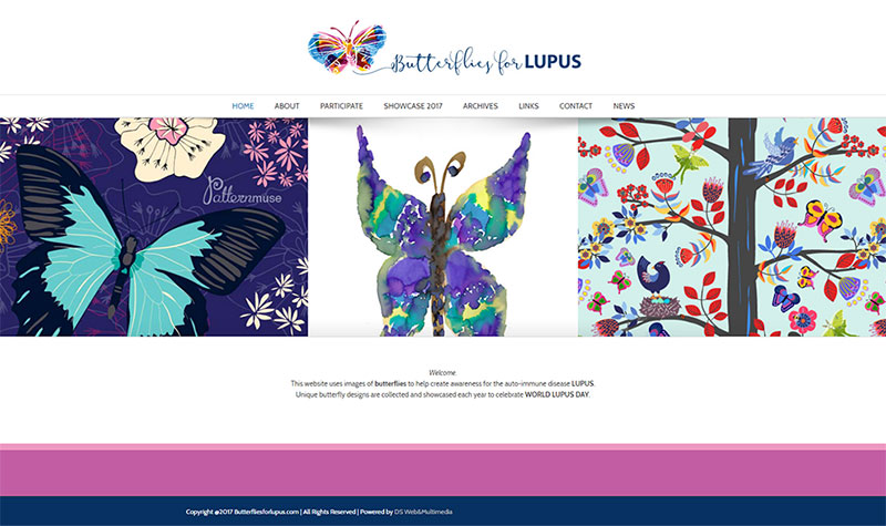 Butterflies For Lupus website