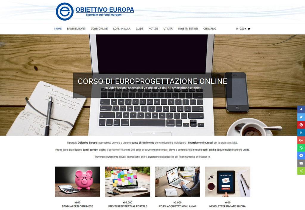 Portale Web Obiettivo Europa
