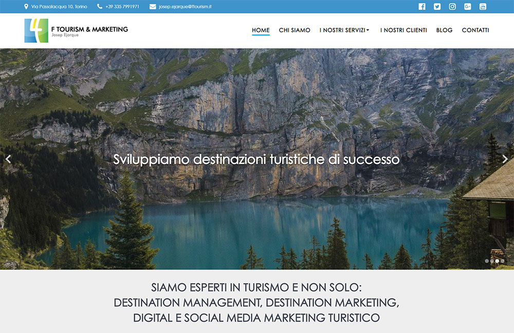 Realizzazione sito web FTourism