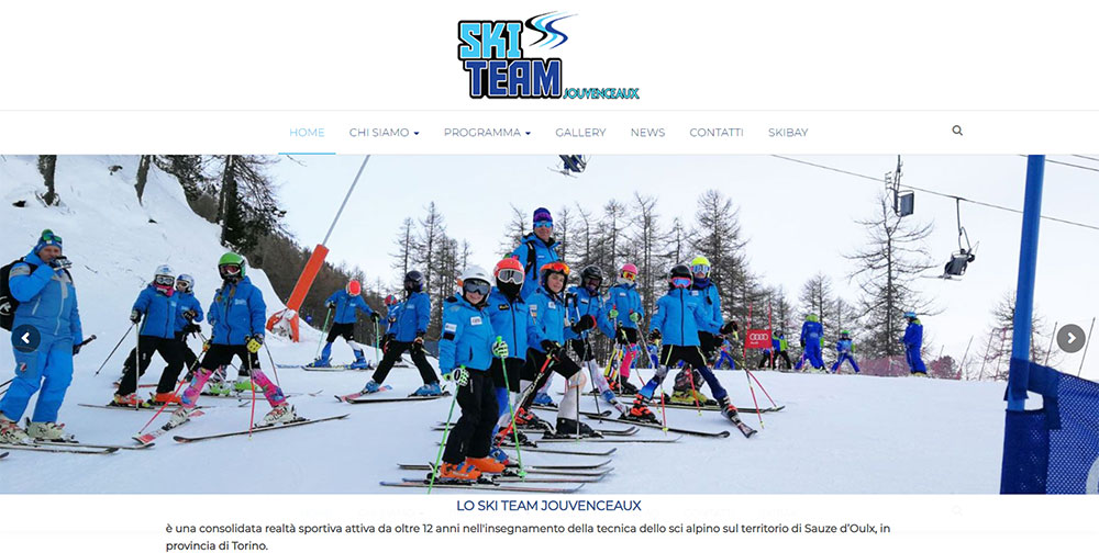 Restyling sito web Ski Team