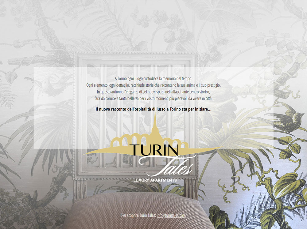 Landing page Turin Tales