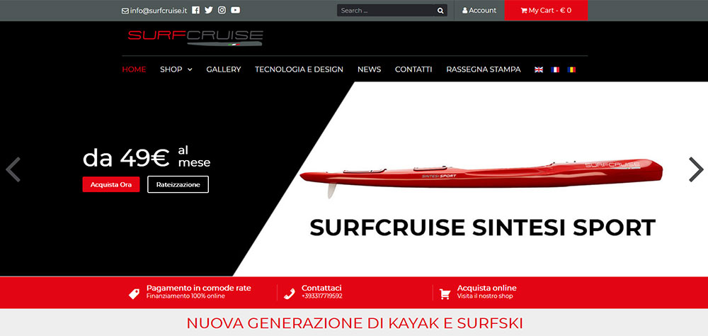 Restyling E-commerce SurfCruise