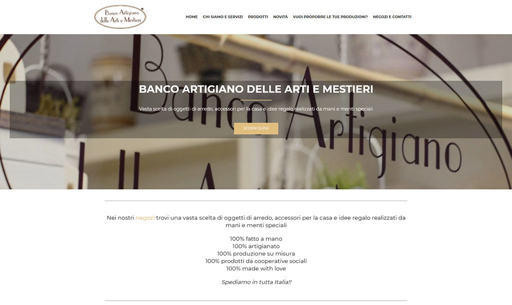 Restyling sito web Banco Artigiano