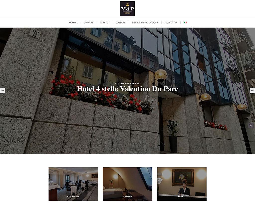 Realizzazione sito web Valentino Du Parc