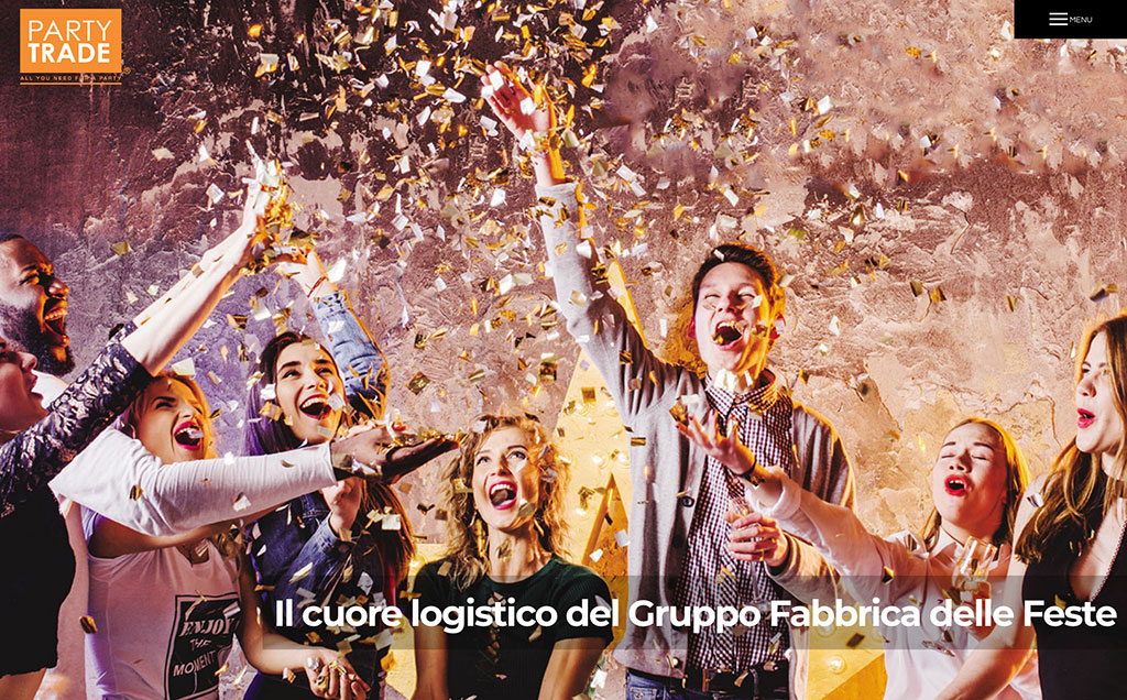 Restyling sito web Party Trade