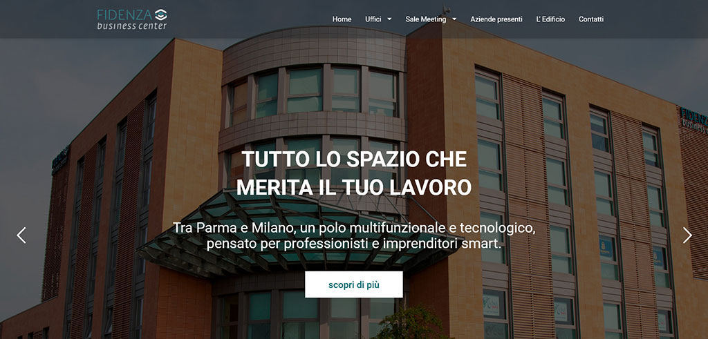 Restyling Website Fidenza Business Center