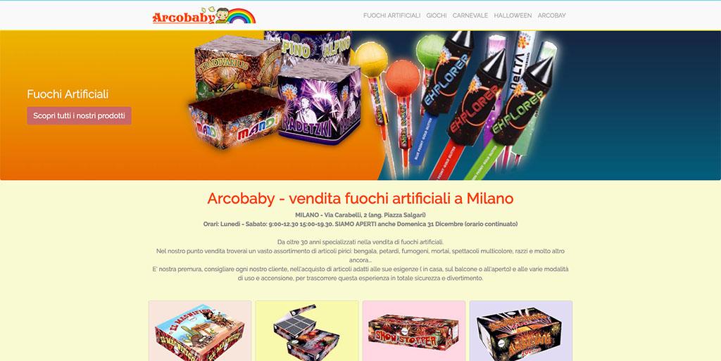 Creazione Landing Page Arcobaby